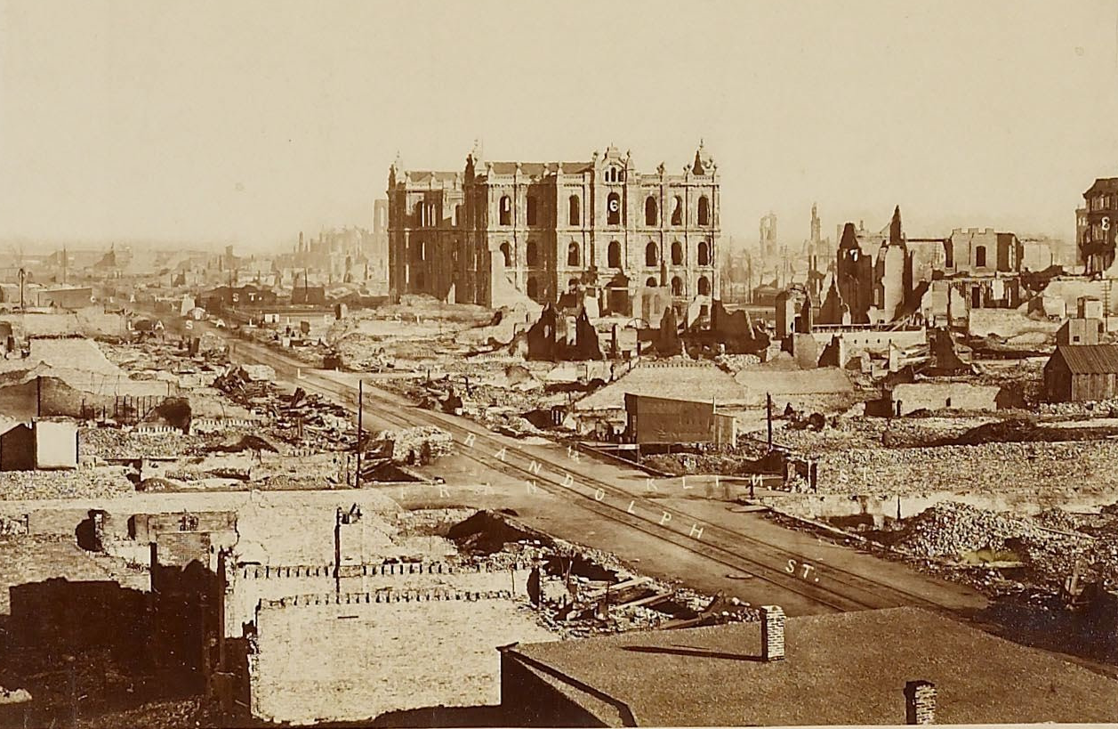 Aftermath of the great chicago fire attributed to george n barnard